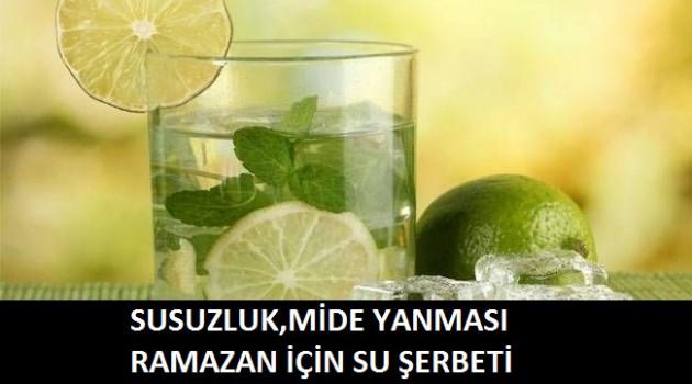 Ramazan İçin Su Şerbeti