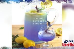 Hindistan Cevizi Ve Lavanta Aromalı Limonata