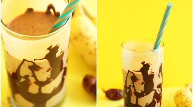 Sıcak Çikolata Soslu Muzlu Smoothie Nasıl Yapılır?